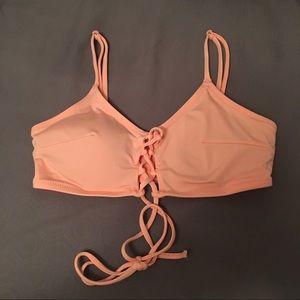 H&M coral bikini top